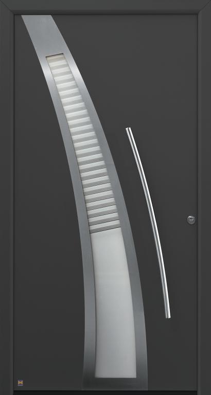 Motiv 40 Thermo Safe, in CH 703 Anthrazit, strukturiert mit Blendrahmen Ronda 70
