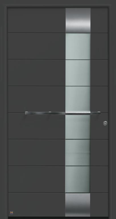 Motiv 697 Thermo Safe in CH 703 Anthrazit, strukturiert mit Blendrahmen Rondo 70