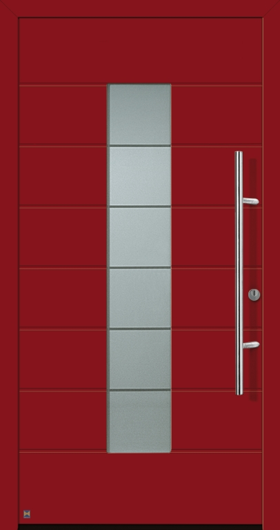 Motiv 689 Thermo Safe in Vorzugsfarbe Rubinrot matt, RAL 3003