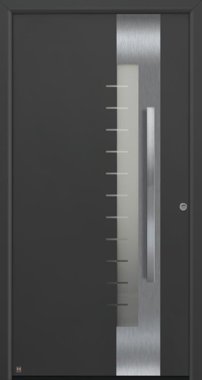 Motiv 560 Thermo Safe in Farbton CH 703 Anthrazit, strukturiert mit Blendrahmen 70