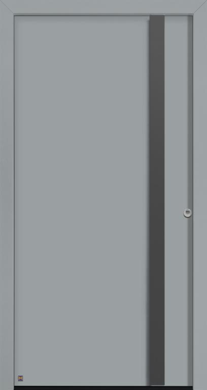 Motiv 568 Thermo Safe, in Vorzugsfarbe Fenstergrau matt, RAL 7040, Design-Griff G 750 in Farbton CH 703 Anthrazit, strukturiert mit Blendrahmen Rondo