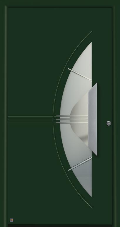 Motiv 553 Thermo Safe in Vorzugsfarbe Tannengrün matt, RAL 6009, mit Blendrahmen Rondo 70