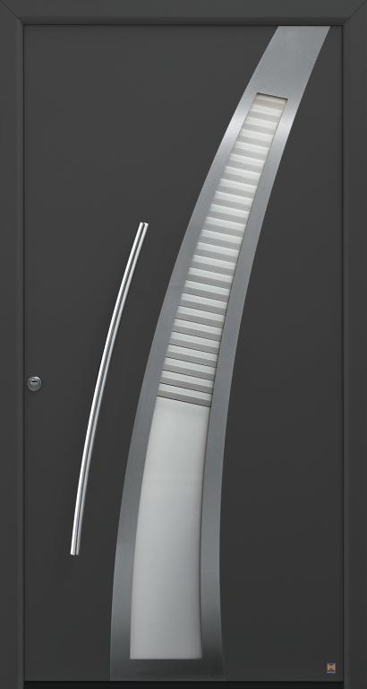 Motiv 40 Thermo Safe, in CH 703 Anthrazit, strukturiert mit Blendrahmen Rondo 70